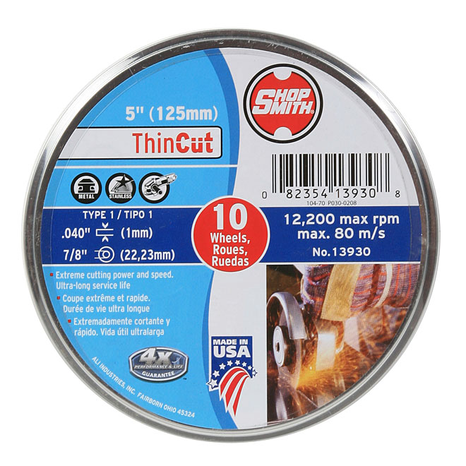 "Metal Cutting Wheel - ThinCut - 5"" - 10-Pack"