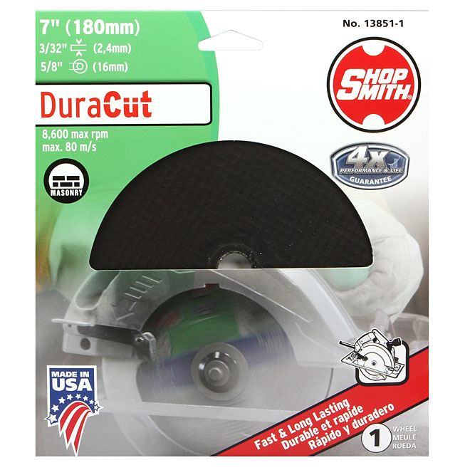 Masonry Cutting Wheel - DuraCut - 7""