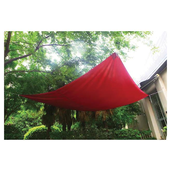 toile pare soleil carr e 11 8 pi rouge rona. Black Bedroom Furniture Sets. Home Design Ideas