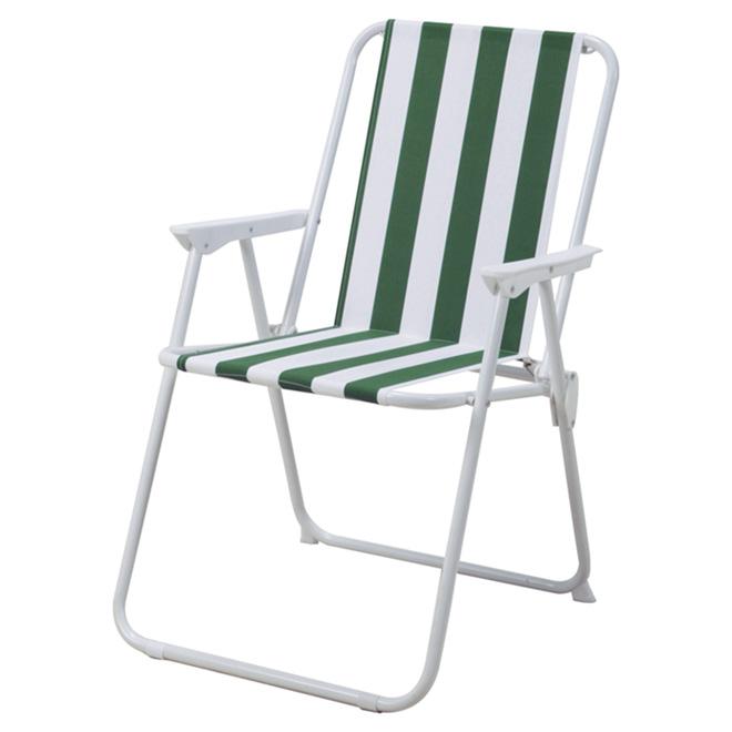 chaise de patio pliante verte blanche rona. Black Bedroom Furniture Sets. Home Design Ideas