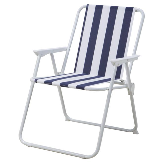 chaise de patio pliante bleue blanche rona. Black Bedroom Furniture Sets. Home Design Ideas