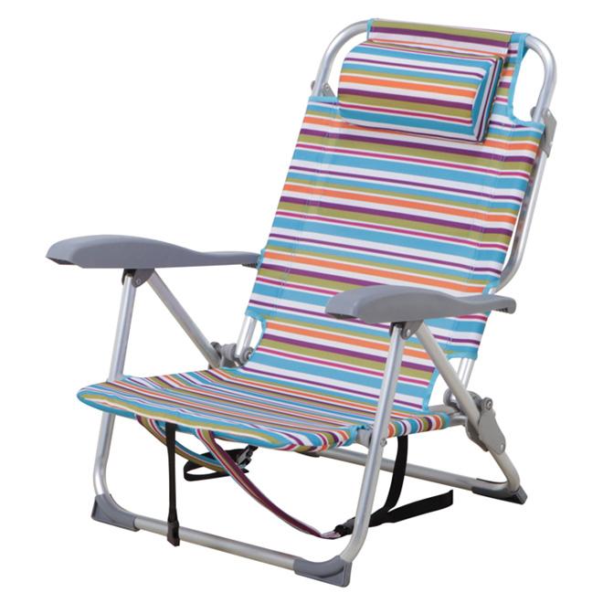 Chaise de plage ajustable rayures rona for Tapis exterieur costco