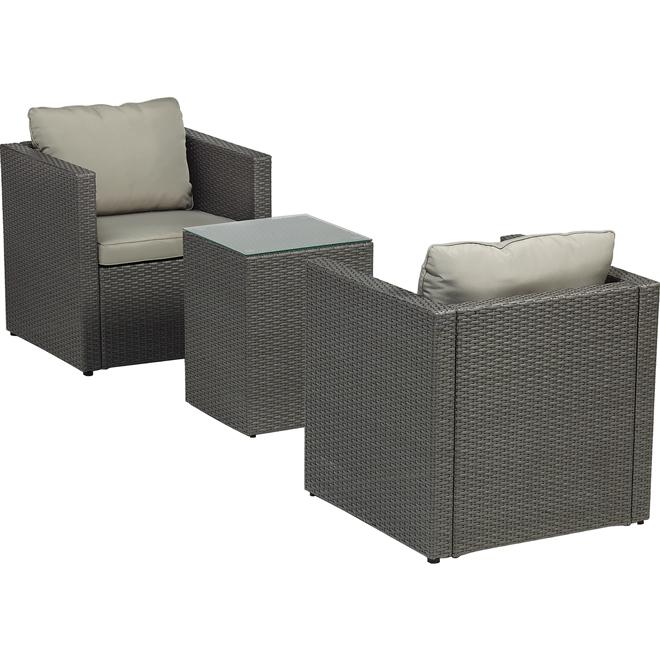Garden furniture 3 piece 3 piece hot sale cast aluminum for Table exterieur oxford