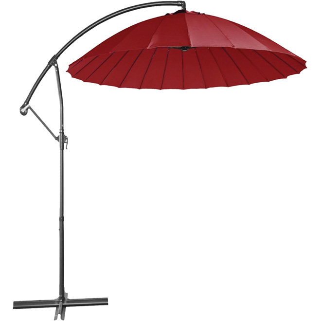 parasol excentr pour patio 10 pi rouge rona. Black Bedroom Furniture Sets. Home Design Ideas