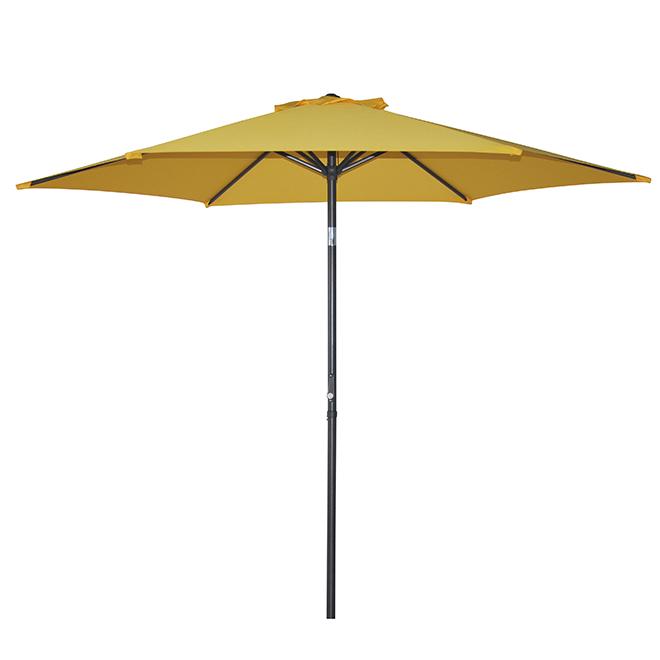 parasol de patio de type march inclinable 8 8 39 jaune. Black Bedroom Furniture Sets. Home Design Ideas