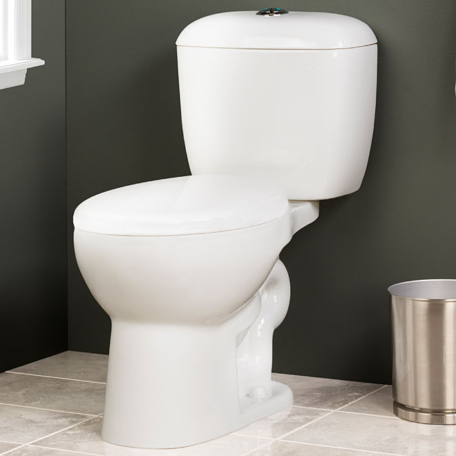 Dual Flush 2-Piece Toilet, 4 L/6 L, White