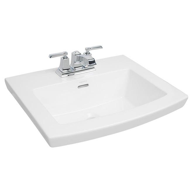 drop in lavatory cavallie 22 x 18 white rona