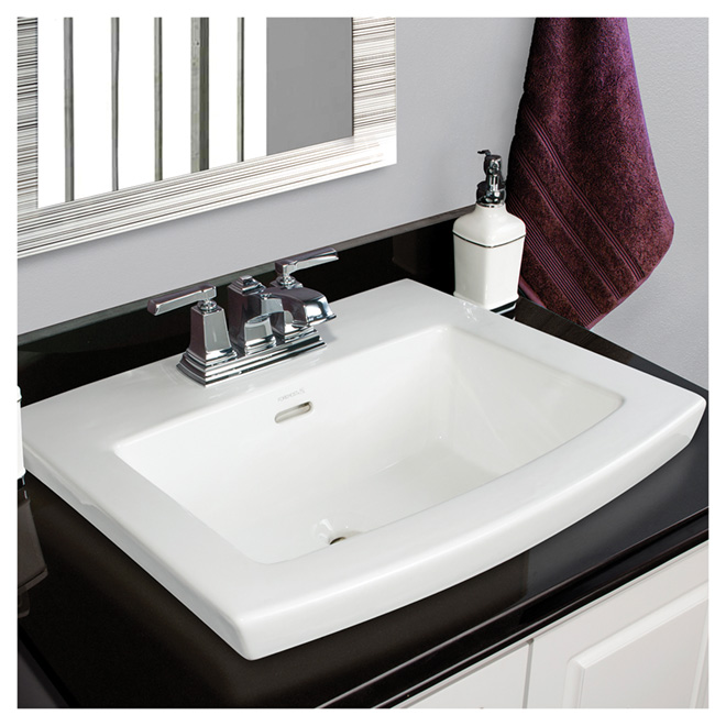 "Drop-in Lavatory - Cavallie - 22"" x 18"" - White"