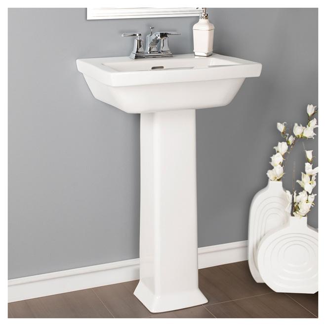 "Bathroom Sinks Rona pedestal lavatory - cavallie - 22"" x 18"" - white | rona"
