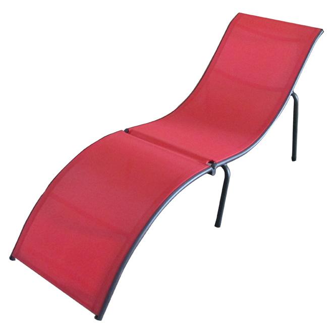 Chaise longue pliante pour patio 62 6 po rouge rona for Meilleure chaise longue