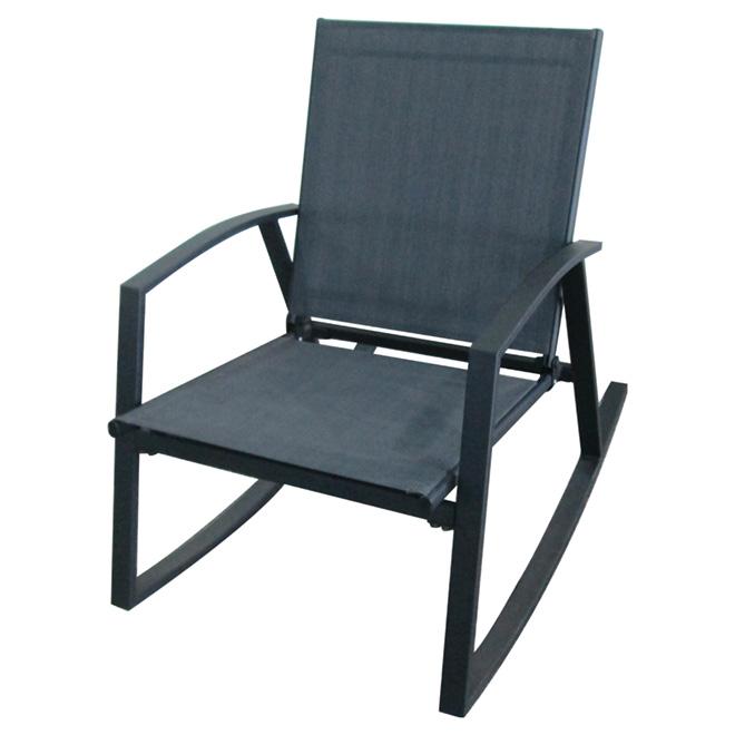 chaise ber ante de patio gris fonc rona. Black Bedroom Furniture Sets. Home Design Ideas