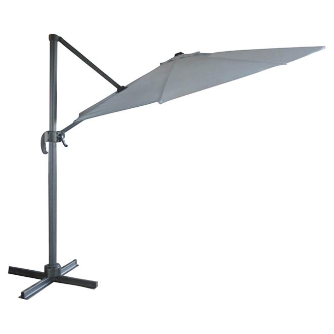Parasol en porte faux pour patio 9 8 39 gris rona for Table exterieur rona