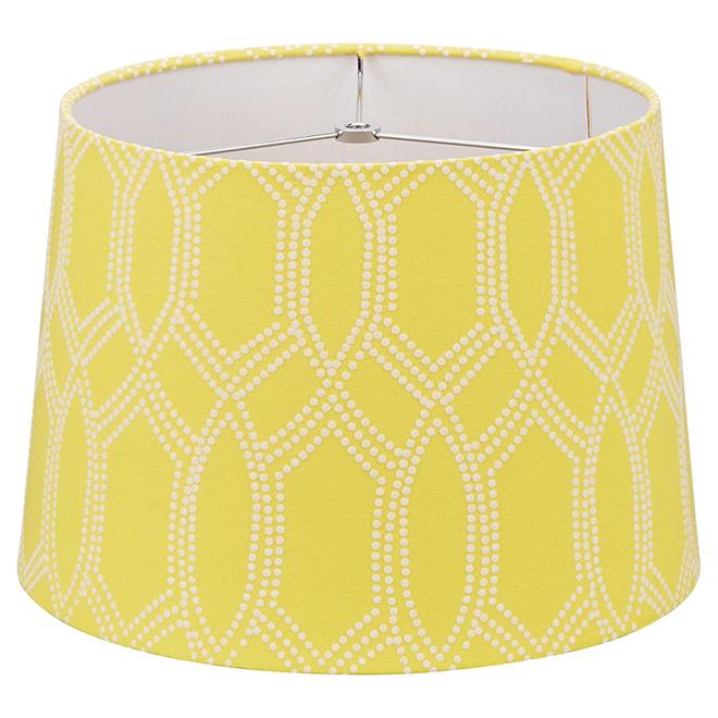 abat jour en lin 13 po blanc jaune rona. Black Bedroom Furniture Sets. Home Design Ideas