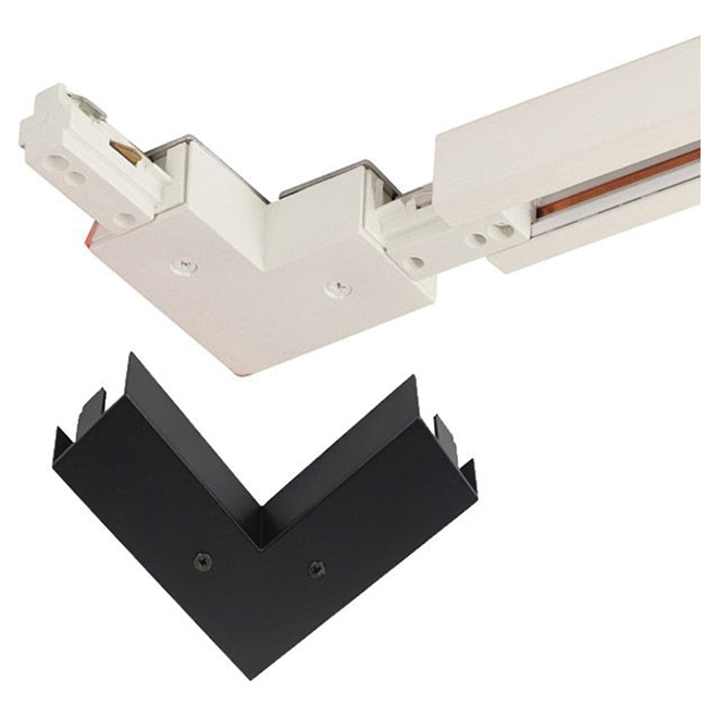 Linear Track 90-Degree Connector - White and Black