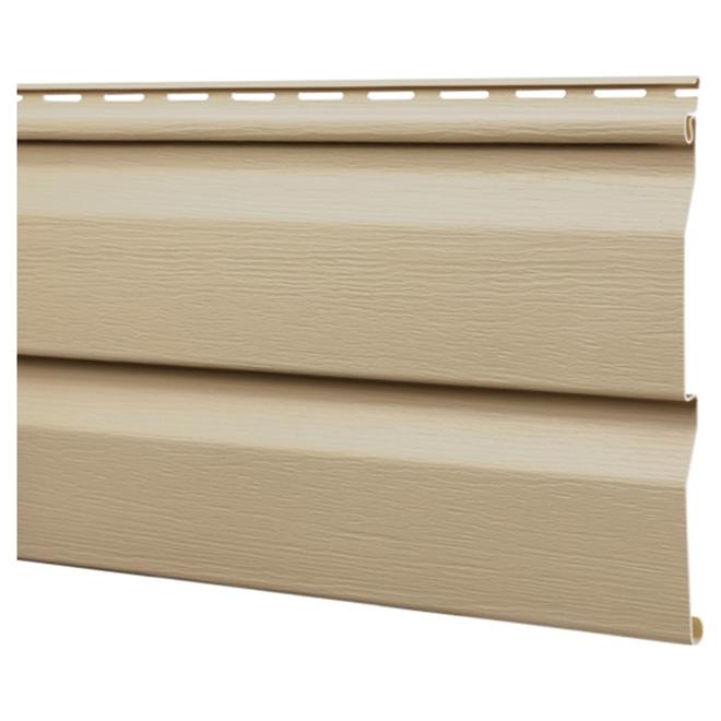 Vinyl d4 5dl siding brownstone 12 39 rona for Porte coulissante exterieur prix