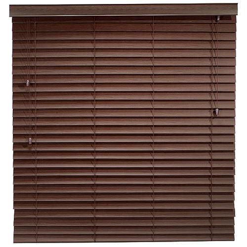 Store horizontal en faux bois rona for Store enrouleur exterieur horizontal