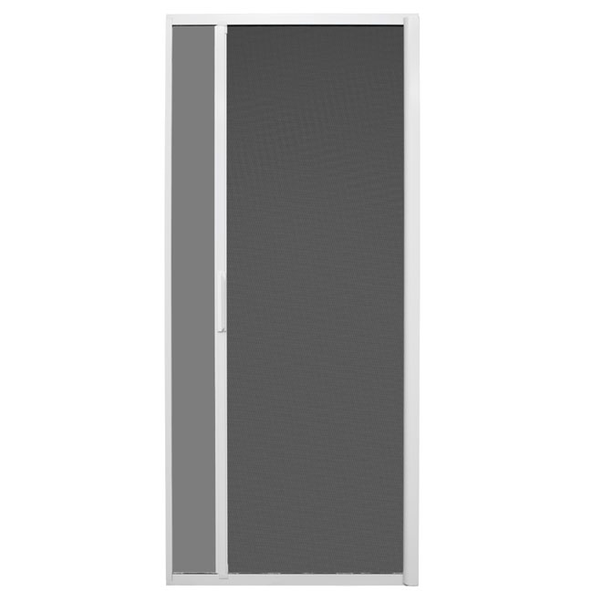 Retractable Sliding Screen Door - White