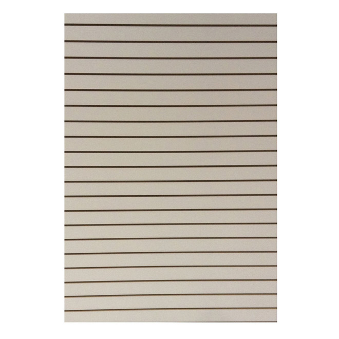 "MDF Panel - Grooved - White - 3/4"" x 49"" x97"""