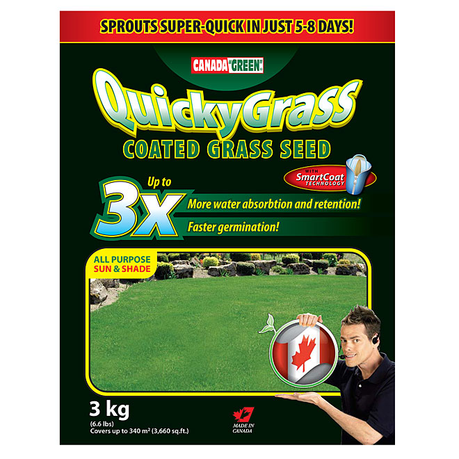 Quicky Grass Coated Seed - 3kg