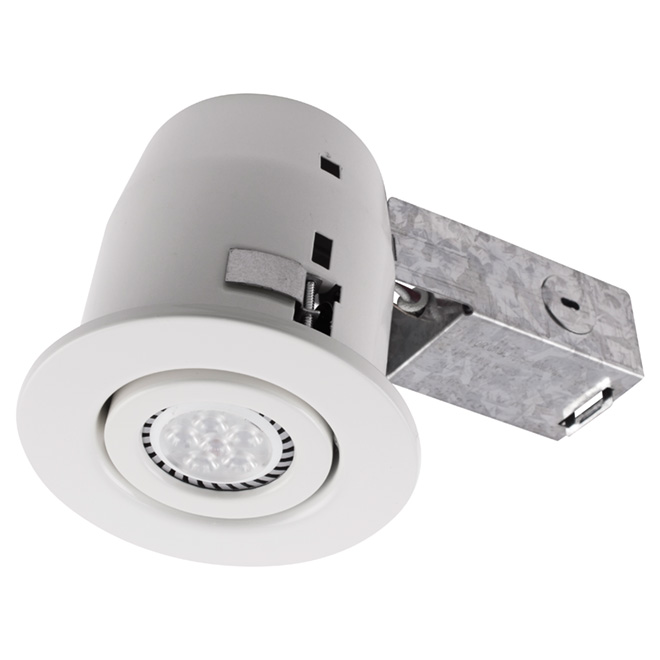 Led pot light insulated ceiling gradschoolfairs led recessed ceiling light 4 pack mat white rona aloadofball Images