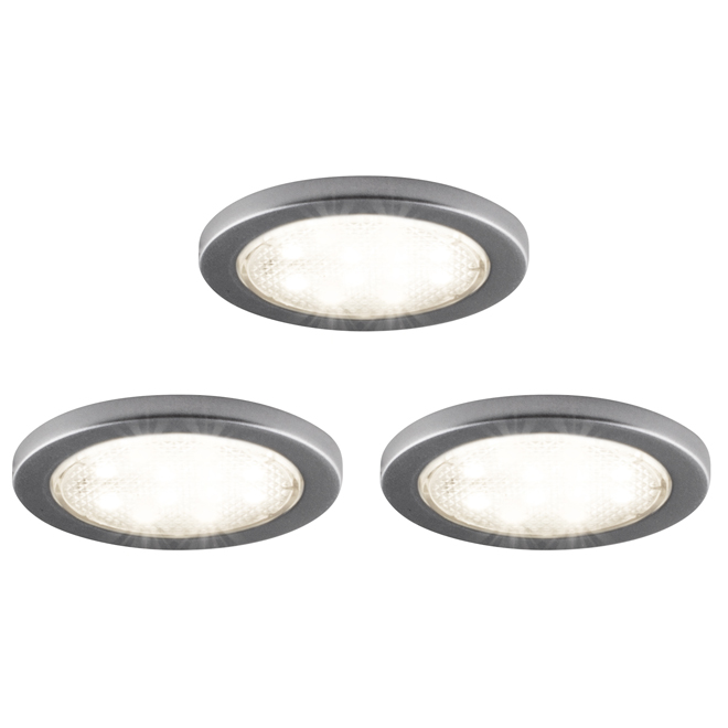 "Under Cabinet LED Puck Lights - 2 1/4"" - 3-Pack"