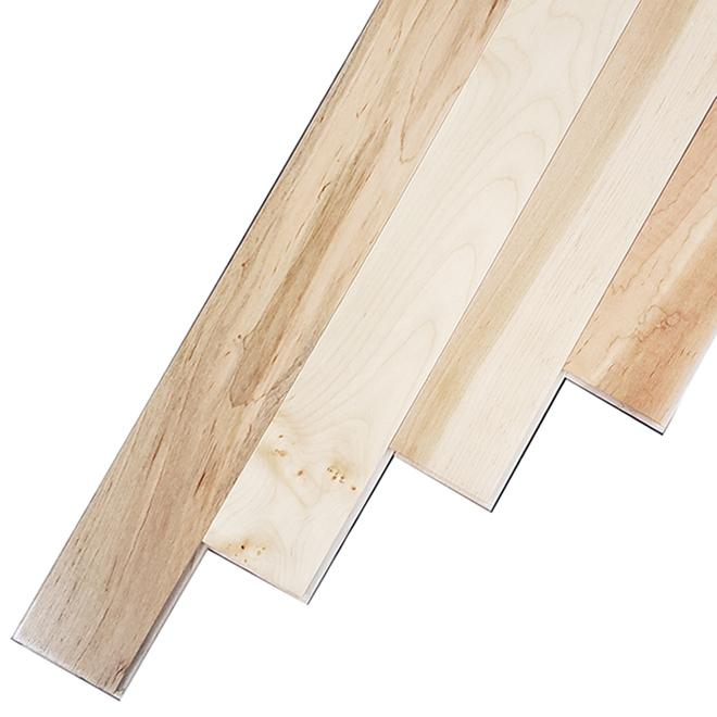 Plancher de bois franc en rable naturel rona for Couvre plancher exterieur