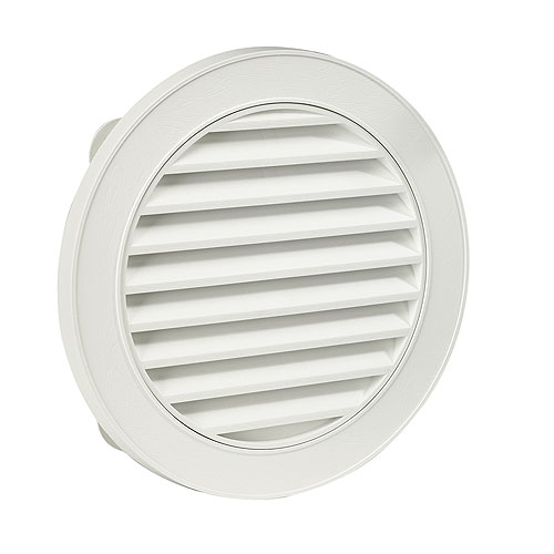 "Round Gable Vent  22"" - White"