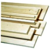 Knotty White Pine Board 1 in x 8 in x 4 ft