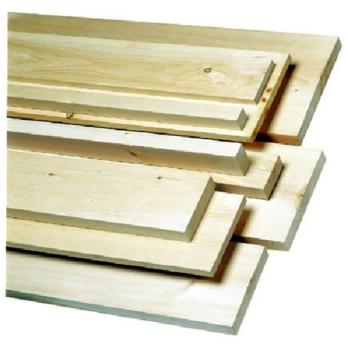 White pine lumber 1 in x 5 in x 6 ft