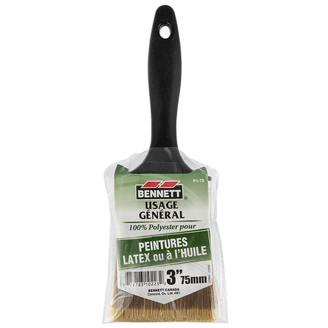 All-Purpose Paintbrush - Synthetic Bristles - 3""