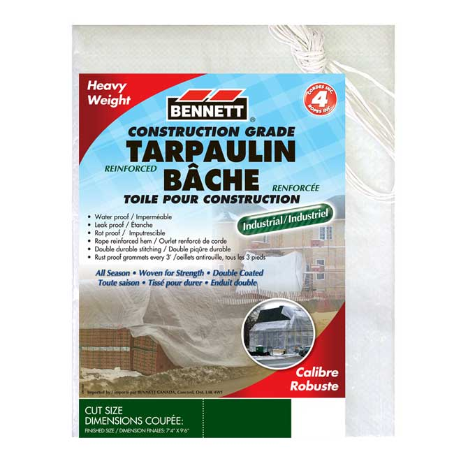 Construction Tarp - 8' x 10' - White