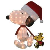 Lighted 2D Snoopy and Woodstock Decoration - 32