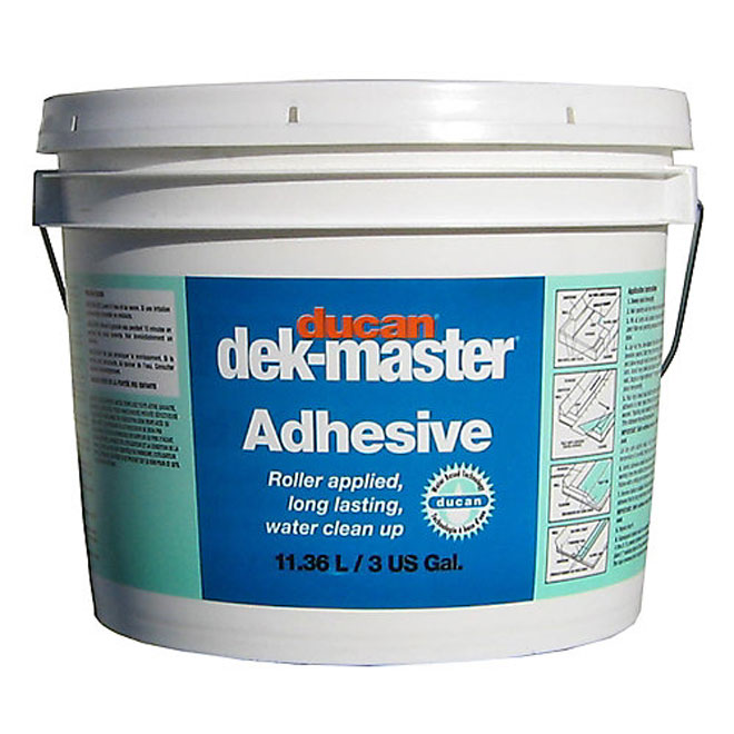 White Water-Based Adhesive for Vinyl Siding 11.36 L