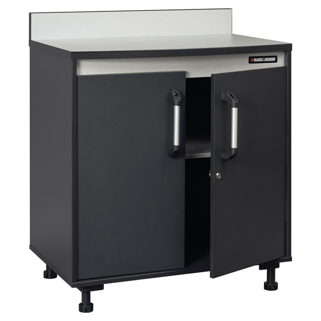 2-Door Base Cabinet with Work Surface