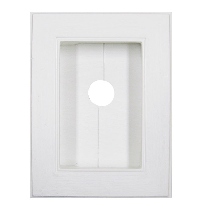 Recessed-Split Block White