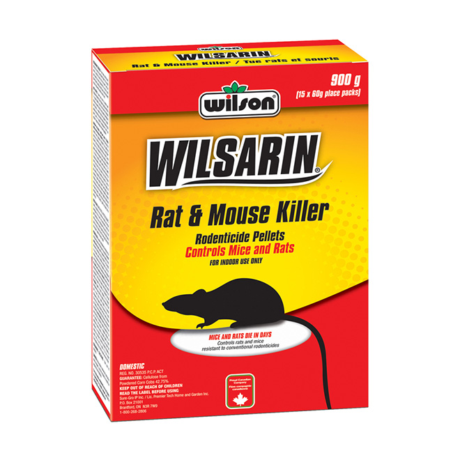"""Wilsarin"" Rat and Mouse Bait Pellets"