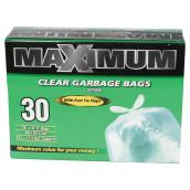 Outdoor Garbage Bags - Clear - 30 per Box