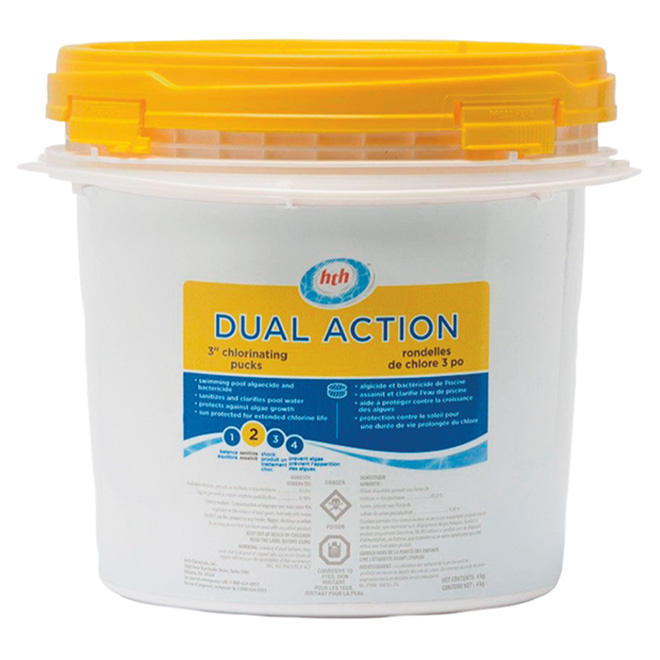 "Pool Dual-Action Stabilized Chlorinating Pucks - 3"" - 4 kg"