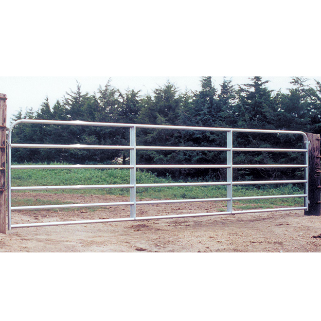 "Fence Gate - 6 Bars - Galvanized Steel Tube - 50"" x 18'"