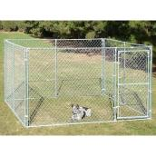 Dog Kennel - 12 1/2 GA - Galvanized - 10' x 10' x 6'