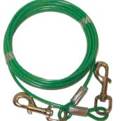 Dog Tie-Out Cable - Small and Medium Size Dogs - 15'