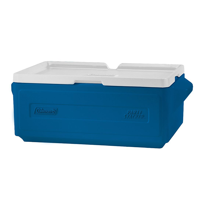 Cooler - Party Stacker - 24 Cans Capacity - 25 Qt - Blue