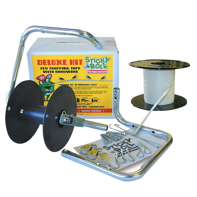 Fly Trap Kit - Mr Sticky Roll Deluxe Fly Tape System - 600'