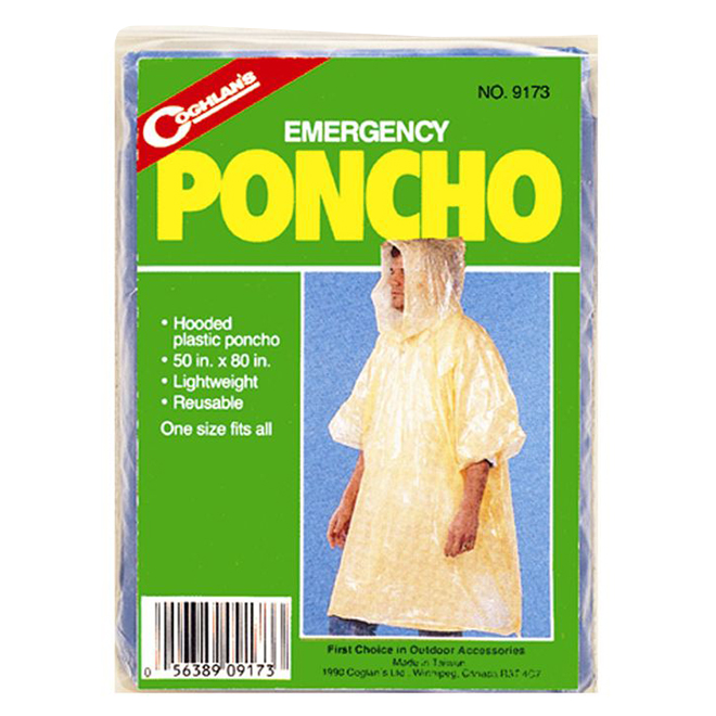 "Emergency Rain Poncho - 50"" x 80"""