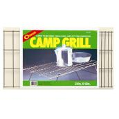 Folding Camp Grill - Nickel-Plated Steel - 12
