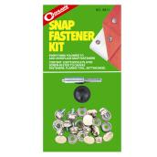 Snap Fastener Kit - Nickel Plated - 8 Sets - 18 Pieces