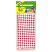 Vinyl Tablecloth - Red/White - 54