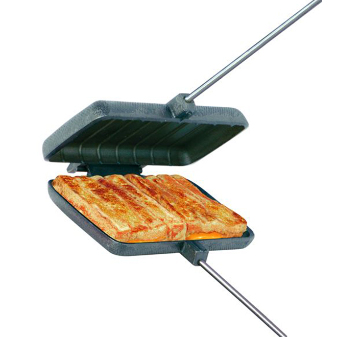"Camping Pie Iron Grill - Double - 4 1/4"" x 8 1/2"""