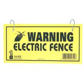 Electric Fence Warning Sign - Dual Sided - 4