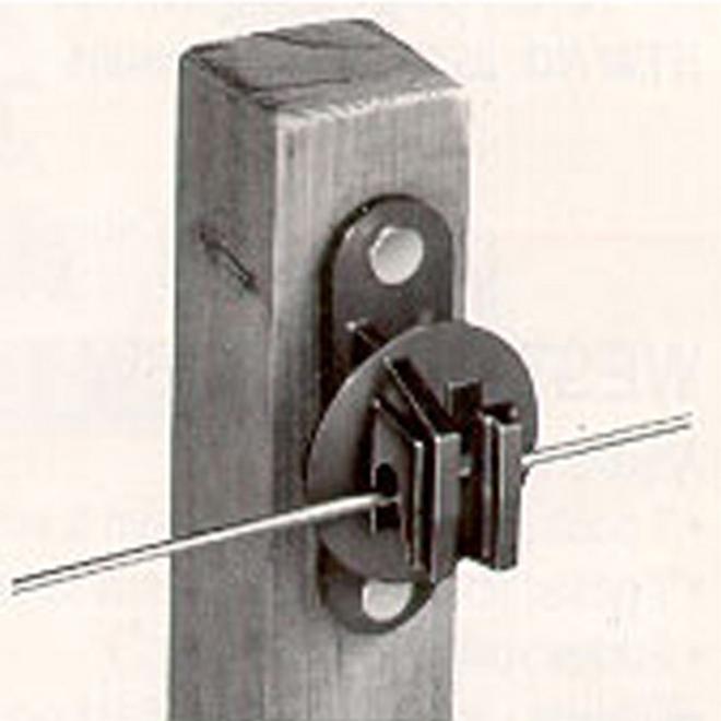 Snug Electric Fence Insulators Wood Post Black 25 Pk